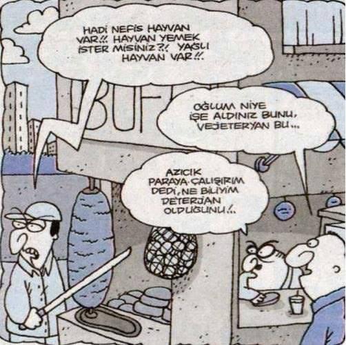 Vejeteryan eleman :)