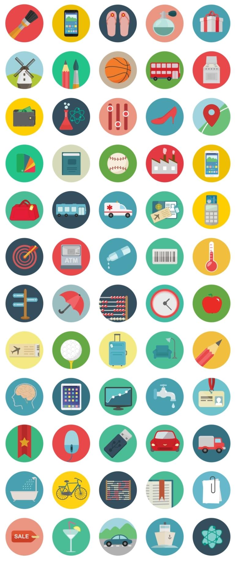 60 Ücretsiz Düz Yuvarlak #Simgeler (#Roundicons) - http://goo.gl/nN8pvA