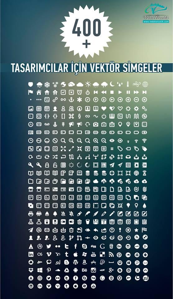 400 + Ücretsiz Vektör Anahat Simgeler | 400 + Free Vector Icons Outline - http://goo.gl/whpUfn